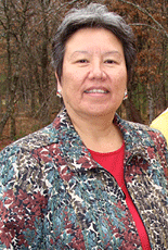 Gina Washinawatok is a Menominee and member of the Menominee Clans Committee