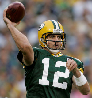 Aaron Rodgers Throwing A Football